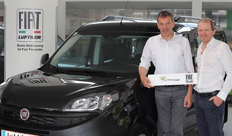 Die Wahl des Bürgermeisters: Fiat Doblo mit Erdgasantrieb