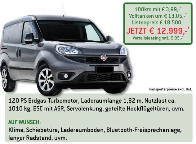 Fiat Doblo Cargo Erdgas Lüftner Edition
