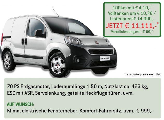 Fiat Fiorino Erdgas Lüftner Edition