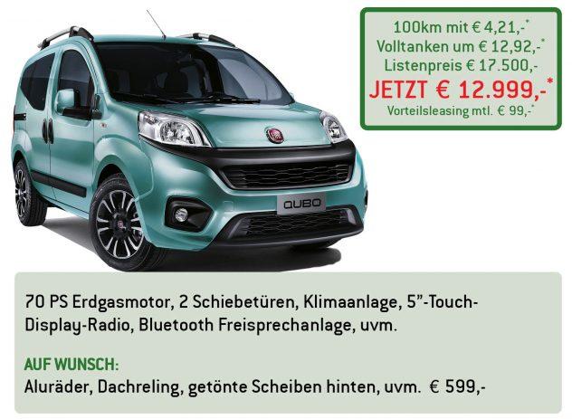Fiat Qubo Erdgas Lüftner Edition