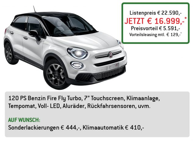 Fiat 500X Lüftner Edition