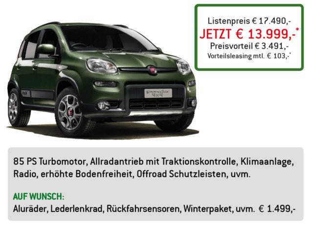Fiat Panda 4×4 Lüftner Edition