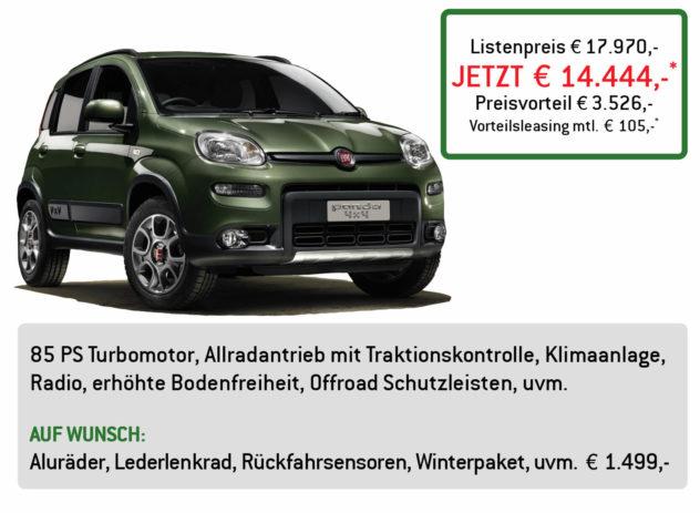 Fiat Panda 4x4 Lüftner Edition