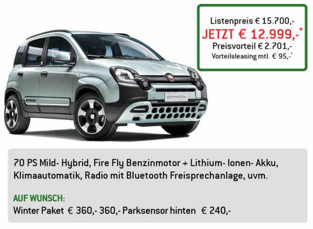 Fiat Panda Hybrid Lüftner Edition