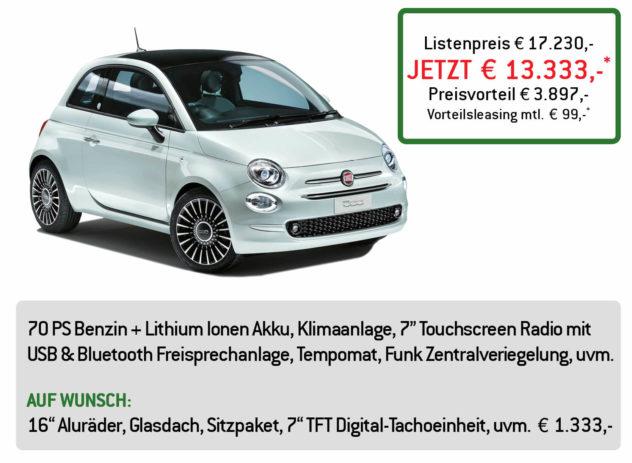 Fiat 500 Hybrid Lüftner Edition