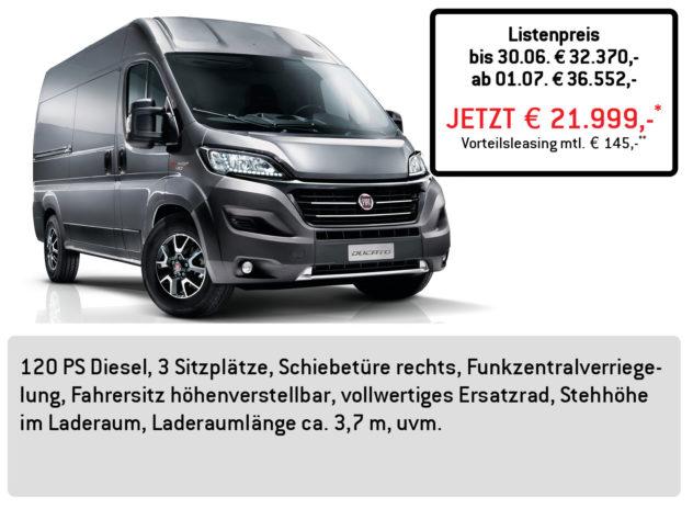 Fiat DUCATO Kastenwagen L3H2 3,3to LÜFTNER EDITION
