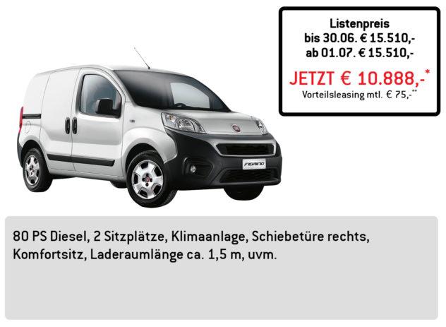Fiat FIORINO Kastenwagen LÜFTNER EDITION