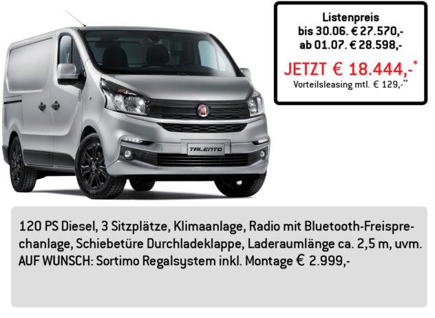 Fiat TALENTO Kastenwagen LÜFTNER EDITION