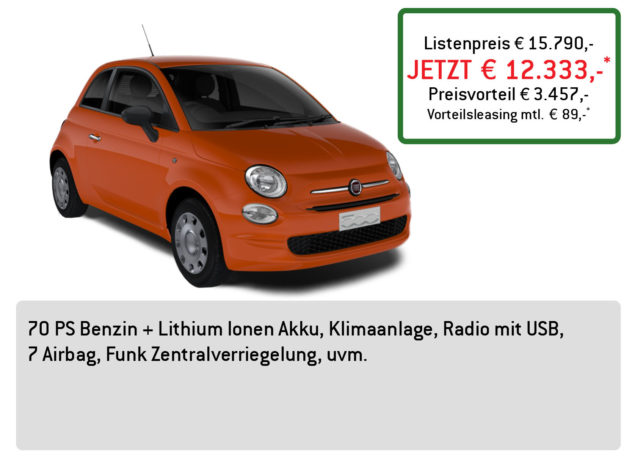 FIAT 500 Lüftner Edition