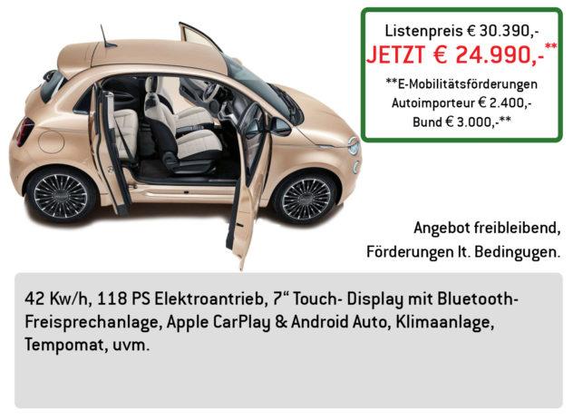 FIAT 500e 3+1 LÜFTNER EDITION