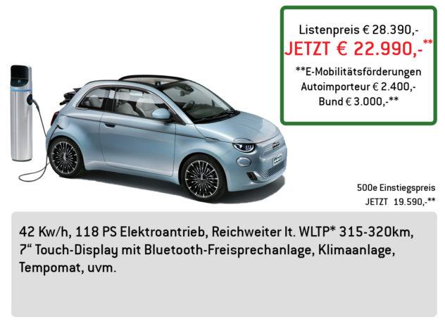 FIAT 500e LÜFTNER EDITION