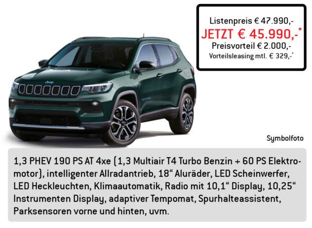 Jeep Compass Lüftner Edition