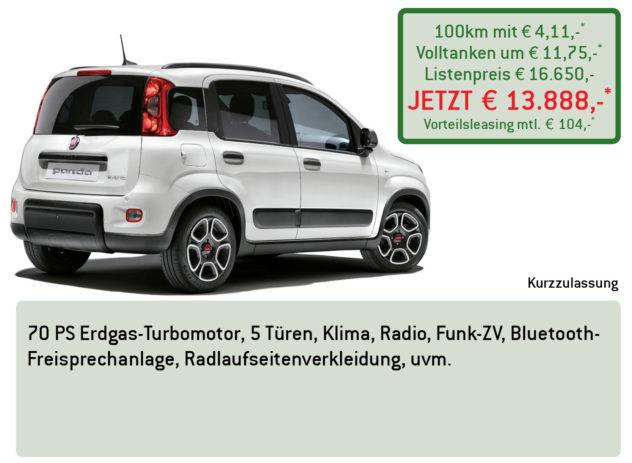 FIAT Panda Erdgas Lüftner Edition